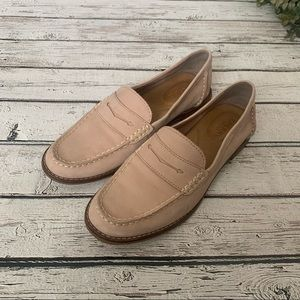 Sperry Seaport Blush Pink Penny Loafers size 8